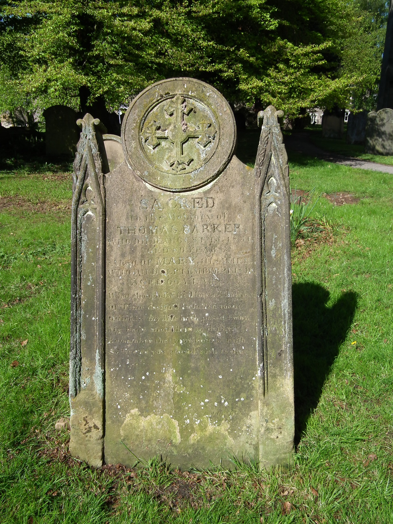 A headstone from Helmsley with a cross motif