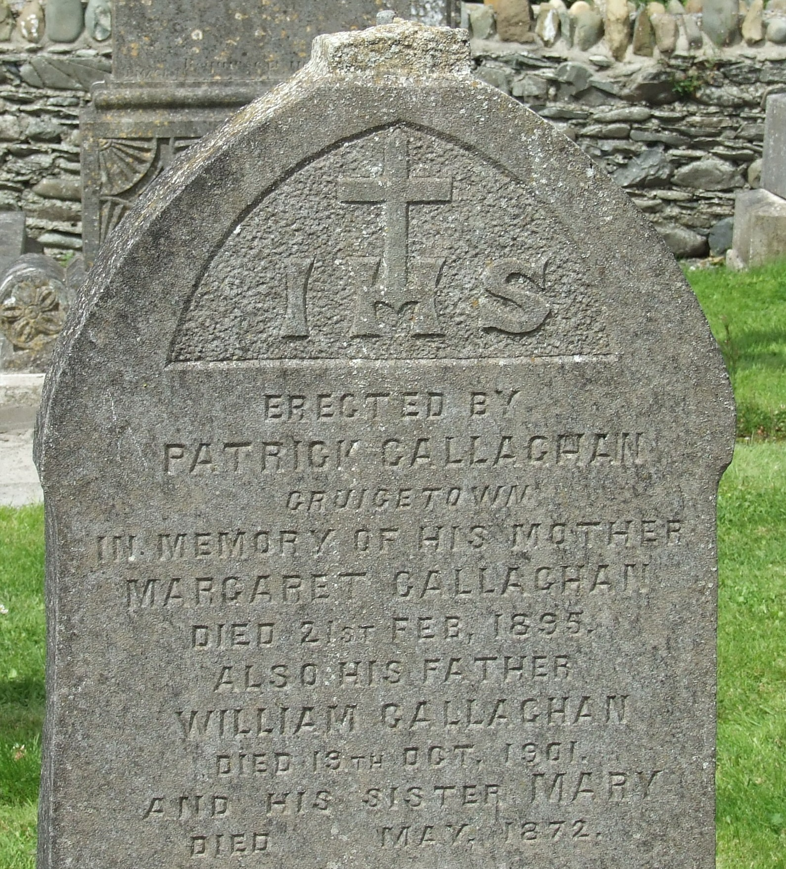 A headstone with the erector prominently mentioned (Port, Co. Louth)