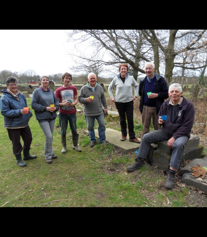 Seven members of the St Matthew's Churchyard working group